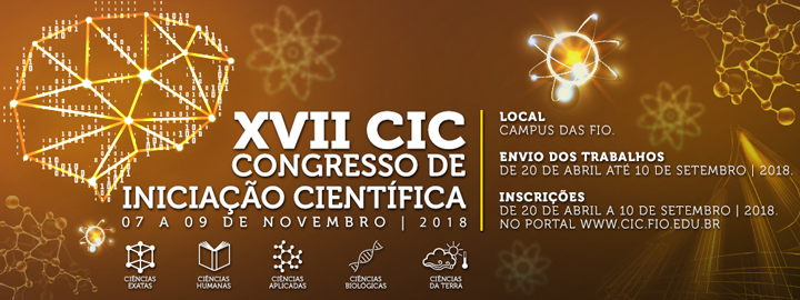 XVII Congresso de Iniciação Científica 2018