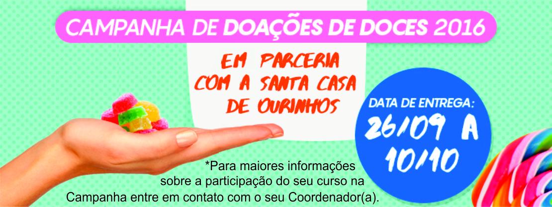 CAMPANHA DE DOAÇÃO DE DOCES
