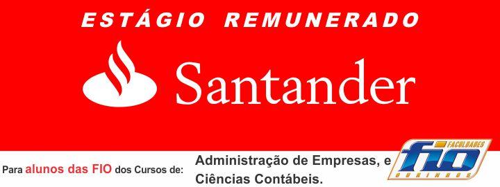 Parceria Estágio FIO & Santander